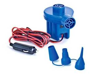 Swimline 19150 12 Volt Pool Inflatables Inflator Electric Air Pump with Nozzles