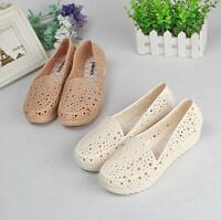 Summer Casual Womens Hollow Out Flats Slip On Nurse Soft Comfort Shoes Sandals