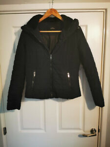 Navy Blue Quilted jacket with high neck Size Small