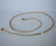 "Heavy Vintage 14k Solid Gold Chain Necklace 18"" 2mm 6.232 Grams Italy"