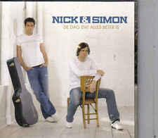 Nick&Simon-De Dag Dat Alles Beter Is cd maxi single incl videoclip cardsleeve