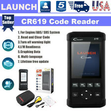 Launch Cr619 Abs Srs Airbag Car Diagnostic Obd2 Engine Scanner Fault Code Reader