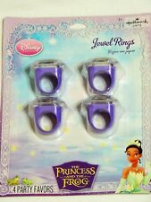 PRINCESS AND THE FROG    1- PKG. WITH 4  JEWEL RINGS -   PARTY SUPPLIES