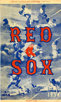 1954 Boston Red Sox Unsigned Official Program and Score Card