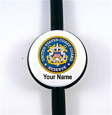ID STETHOSCOPE NAME TAG US COAST GUARD RESERVE,MEDICAL RN,NURSE,DR.TECH,