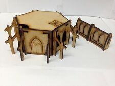 TTCombat Sci Fi Scenics - Gothic Outpost Building & Walls - Great for 40k