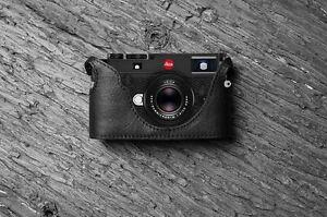 Handmade Black Leather Half Case Bag for Leica M10 M-10 Camera