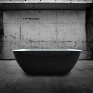 Charlotte Edwards Black Belgravia Freestanding Bath Double Ended 1700 x 670mm