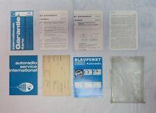 1966-67 Porsche 911 912 Blaupunkt Frankfurt X-Series Manuals - Complete Set
