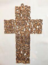 Cruz Oracion Padre Nuestro /Padre Nuestro Pray Cross Siluet Wall Hanging 22.5cm