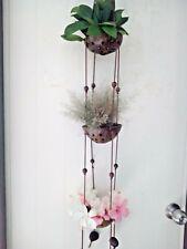 Coconut shell Home Decor Handmade String Basket Plant Small tree Hanging Flower