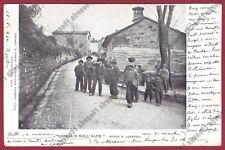 FIRENZE BORGO SAN LORENZO 08 Fraz. CASAGLIA SULL'ALPE Cartolina VIAGGIATA 1902