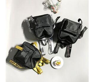 New Off-White Style Virgil Abloh Backpack Small Bag For Travel/School Backpacks