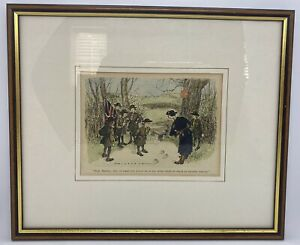 Original Punch Cartoon 1937 Girl Guides Escaped Convict Hand Painted Hailstone