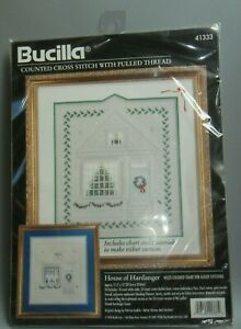 New BUCILLA HOUSE OF HARDANGER CROSS STITCH WITH PULLED THREAD KIT #41333