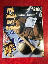 1998 OMAHA ROYALS BASEBALL YEARBOOK & SCORECARD PROGRAM + PHOTO INSERT