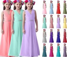 New chiffon Bridesmaid Junior Flower Girl Dresses Princess Pageant 4 ~ 16 years