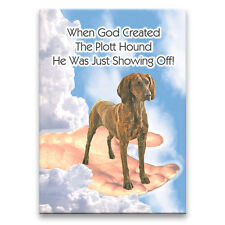 Plott Hound God Showing Off Fridge Magnet