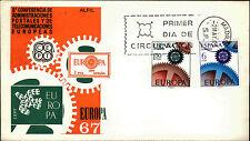 Primero etiquetas carta FDC First Day cover españa SPAIN Espana Europa primer dia Madrid