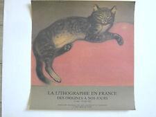 STEINLEN Théophile Affiche originale CHAT Lithographie Lausanne 82 CAT Suisse