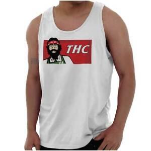 THC Funny Marijuana Munchies Stoner 420 Gift Adult Tank Top Sleeveless A-Shirt