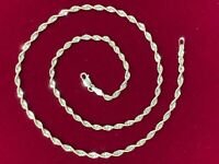 """10k solid Gold Rope Chain 2.5mm yellow gold Diamond cut 16"""" rope chain gold 10kt"""