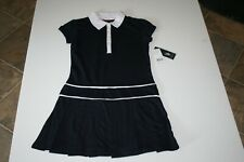 Nwt U.S. Polo Assn. Girls Navy S/S Button Collar School Uniform Dress Sz S 7/8