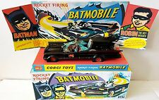 CORGI Toys Batman 267 BATMOBILE Diecast Model Car & Repro Box Plinth + Extras [k