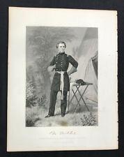 steel engraving Mitchel Ormsby McKnight astronomer Major General Am Civil War #3