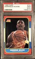 1986-87 Fleer Basketball Dominique Wilkins ROOKIE Card PSA 9 Mint! 💎