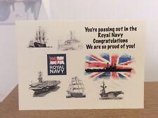 Royal Navy Passing out card in Aid of: Royal Navy and Royal Marines Charity