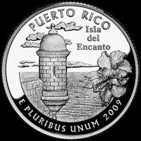 "2009 S Puerto Rico 90% SILVER Deep Cameo ""PROOF"" Territory Quarter US Mint"