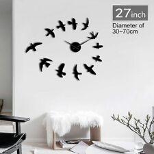 BIRD Adesivo Parete Orologio GIGANTE 3D fai da te Design Moderno Regalo Decorazione Casa Super
