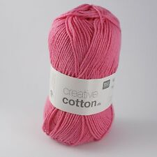 Rico Creative Cotton DK - 100% Cotton Knitting & Crochet Yarn - Candy Pink 005
