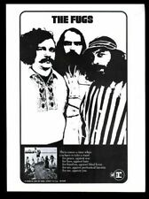 1968 The Fugs photo It Crawled Into My Hand Honest album release print ad
