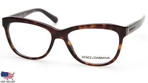"""READ"" D&G Dolce & Gabbana DG 3244 502 DARK HAVANA EYEGLASSES 53-16-140 B39mm"