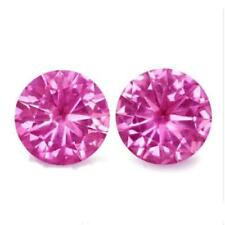 Heating Pink Round Loose Natural Sapphires
