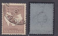 K814) Australia 1916 2/- Brown 3rd wmk. Kangaroo variety 'Watermark inverted' BW