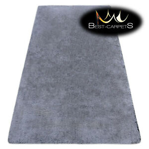 """Amazing Modern washable RUG """"LAPIN"""" silver shaggy, thick Carpet easy to wash"""