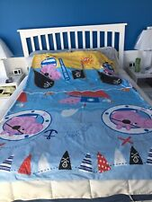 Peppa Pig Duvet Cover Twin George The Pirate Character World 2003 EUC