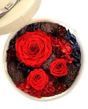 Je T'aime Preserved Fresh Red Roses Immortal Flower Gift Box