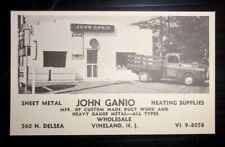1955 John Ganio Heating Supplies Advertisement Vineland, NJ
