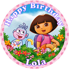 "Dora the Explorer Edible personalised icing sheet cake topper 7.5"" Round"