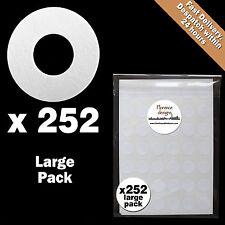 252 x LIBRO BIANCO APPENDI tag Anello / Round / foro RINFORZO Adesivi / Etichette