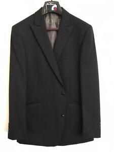 Ben Sherman Black Suit Single Breasted Flat Front Pants 38 44