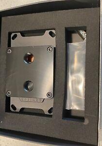 Optimus Water Cooling Foundation CPU Block - AMD - Black Acrylic Black Aluminum