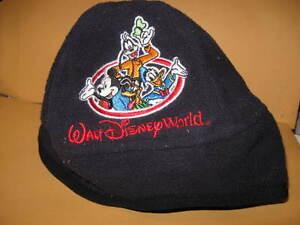 FLEECE CAP Toddler WALT DISNEY WORLD child hat mickey goofy donald blue beanie
