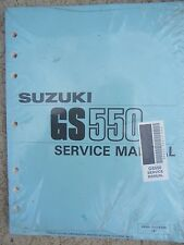 1990 Suzuki GS550 Motorcycle Service Manual Maintenance Tune Up Engine Bike  T