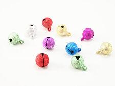 LOT 10 clochettes grelots brillants couleur 10mm création bijoux noël scrap FIMO