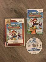 Super Paper Mario (Nintendo Wii, 2007) Complete - Nintendo Selects